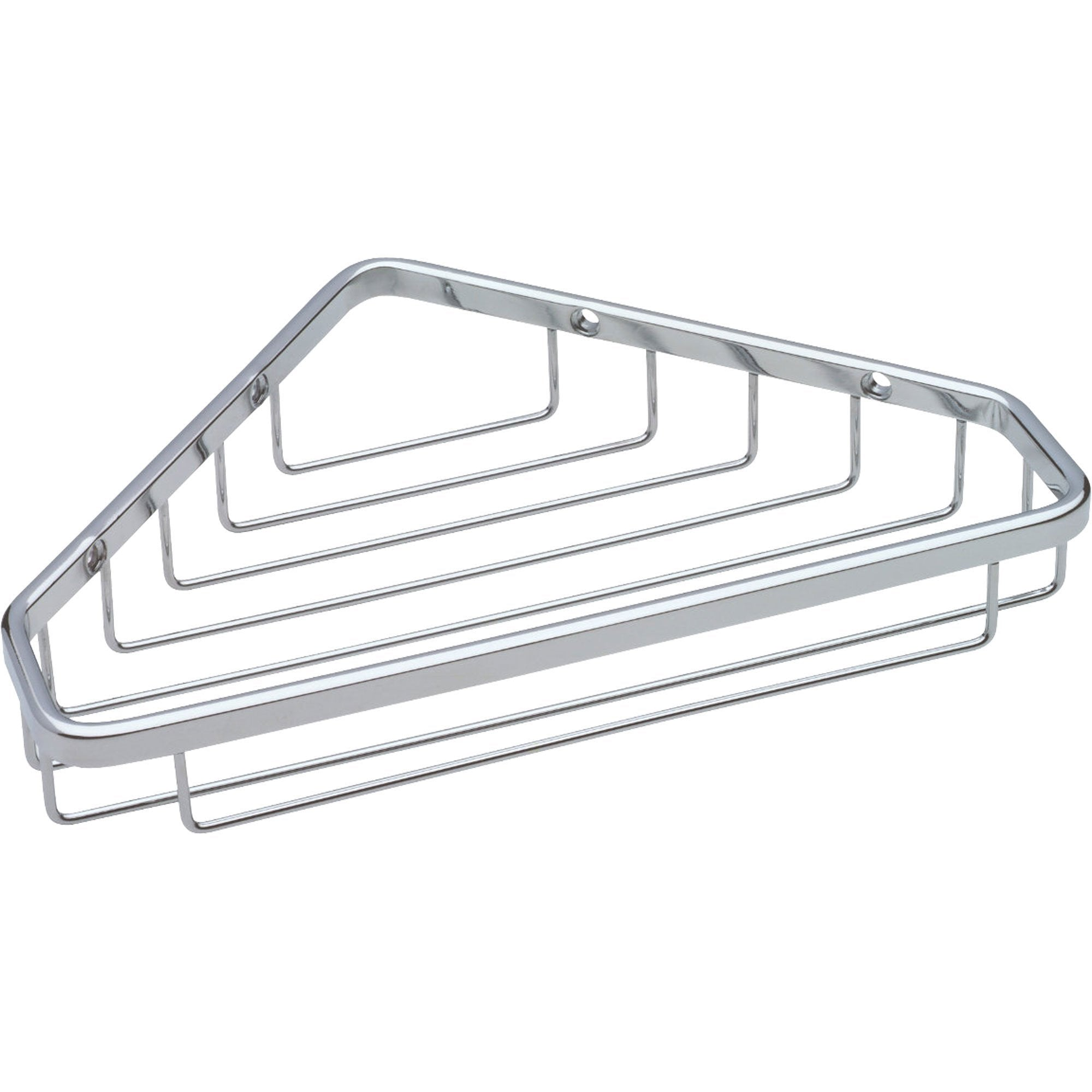 Delta Bright Stainless Steel Finish Large Corner Shower Wire Rack Caddy 567272