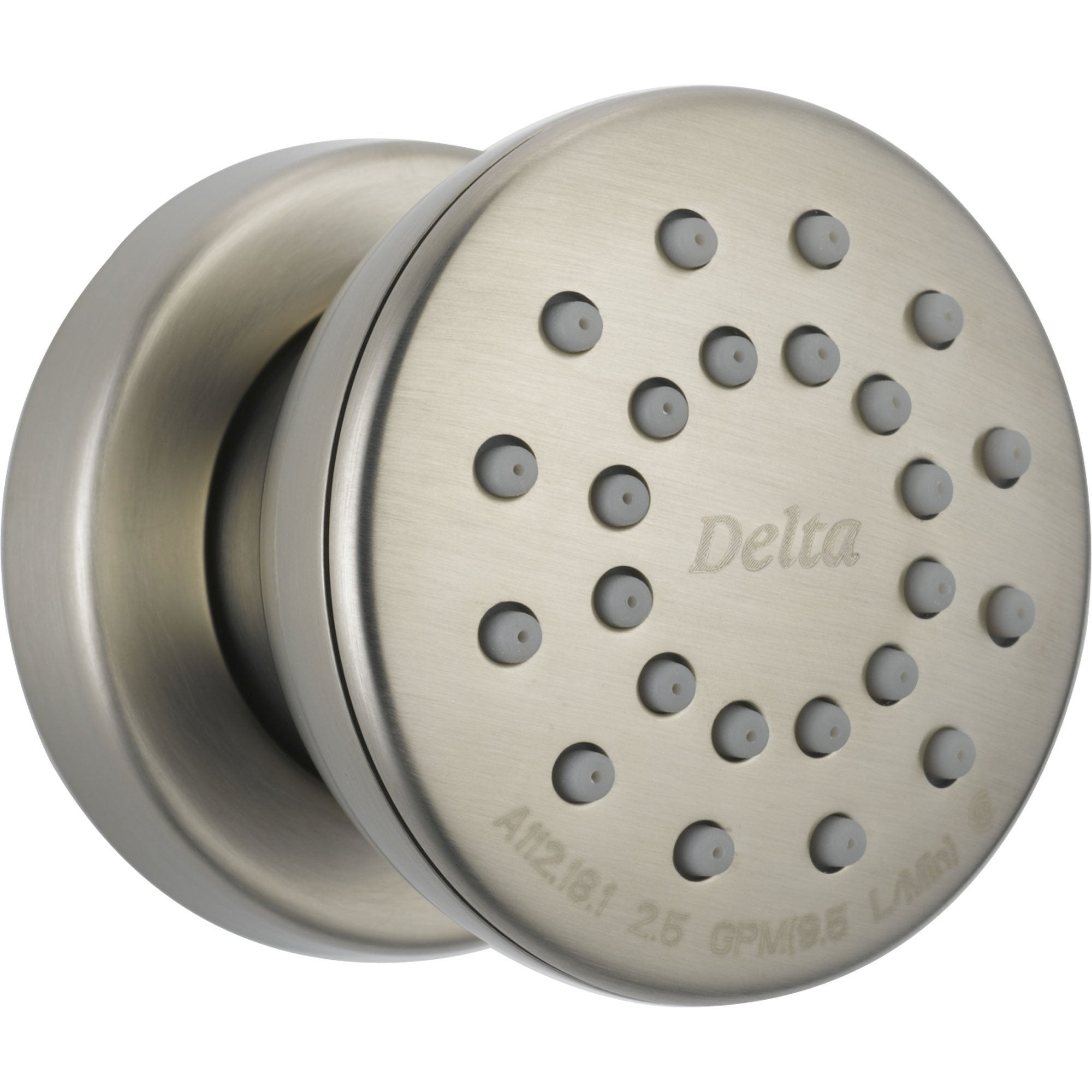 Delta Classic Stainless Steel Finish Shower Round Body Spray Jet 542620