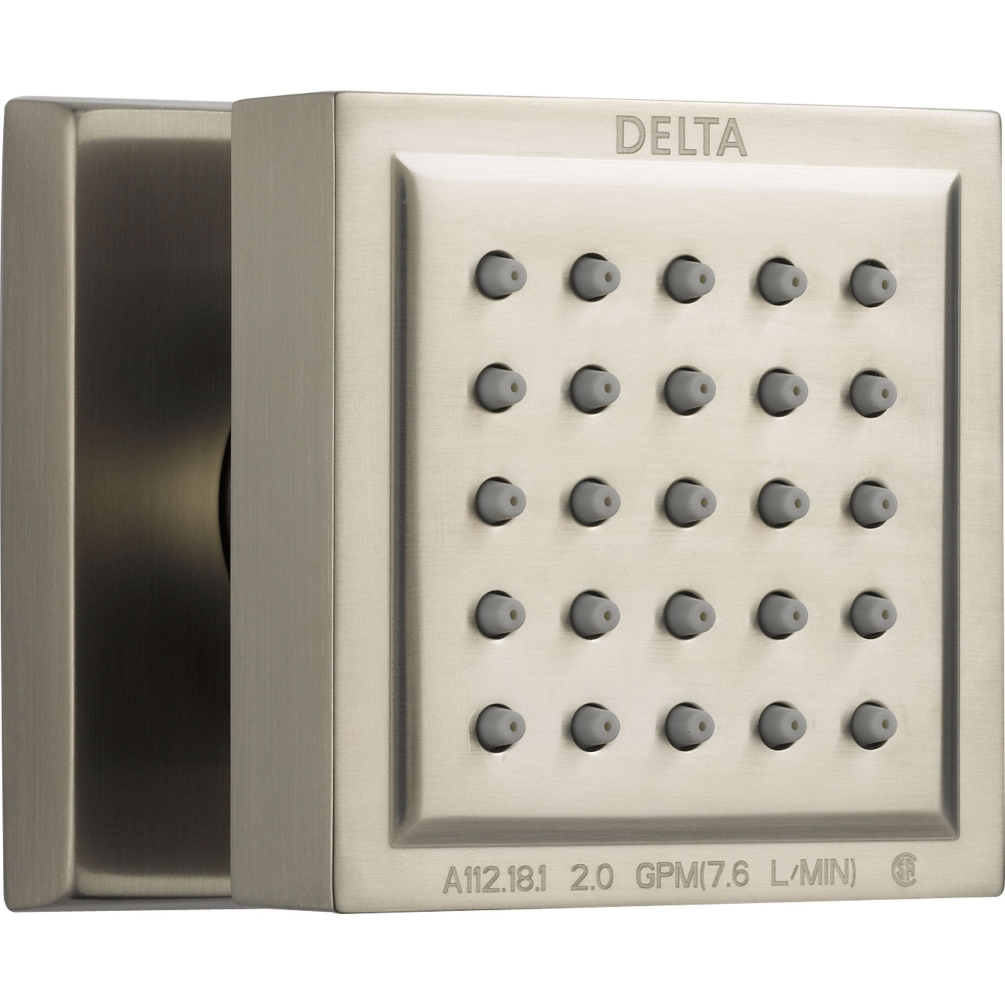 Delta Square Stainless Steel Finish Body Spray 572974