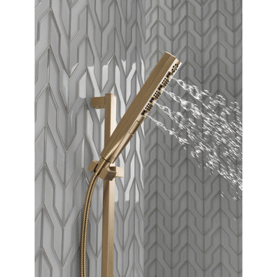 Delta Champagne Bronze Finish H2Okinetic 4-Setting Modern Slide Bar Hand Shower with Hose D51140CZ
