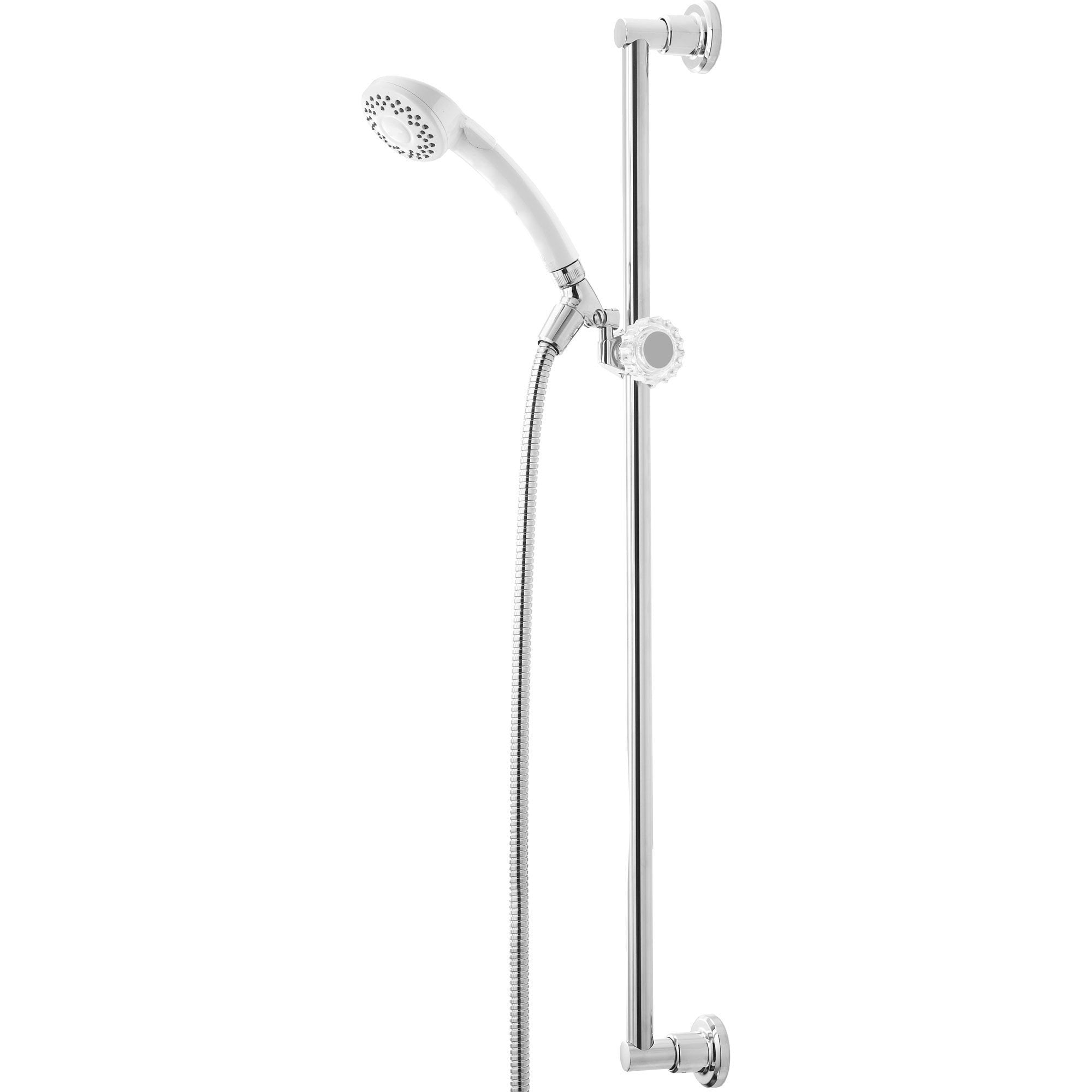 Delta 30-inch 1-Spray White Finish Handshower Faucet with Slide Bar 561086