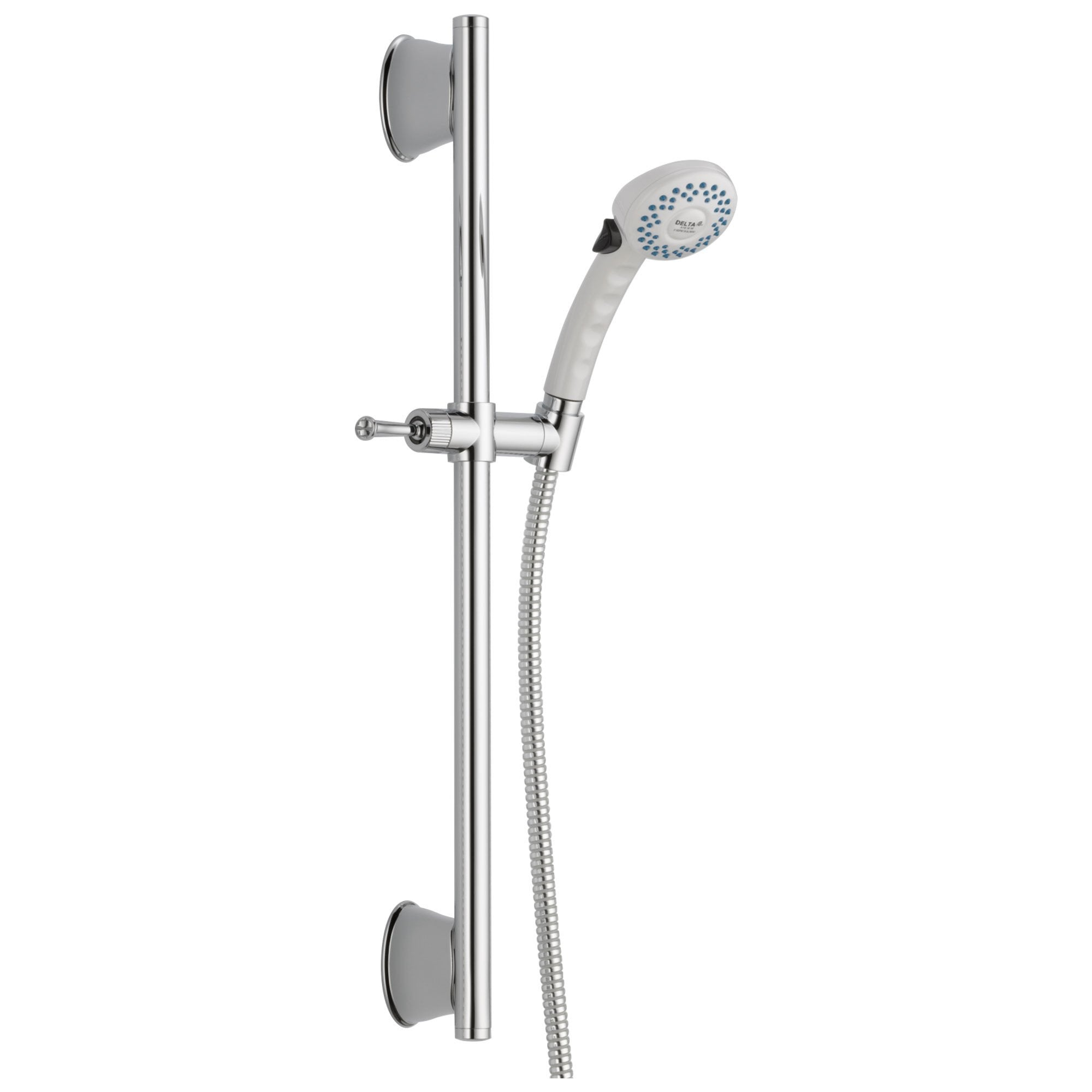 Delta Universal Showering Components Collection White Finish Slide Bar Hand Shower with Hose D51539WHB