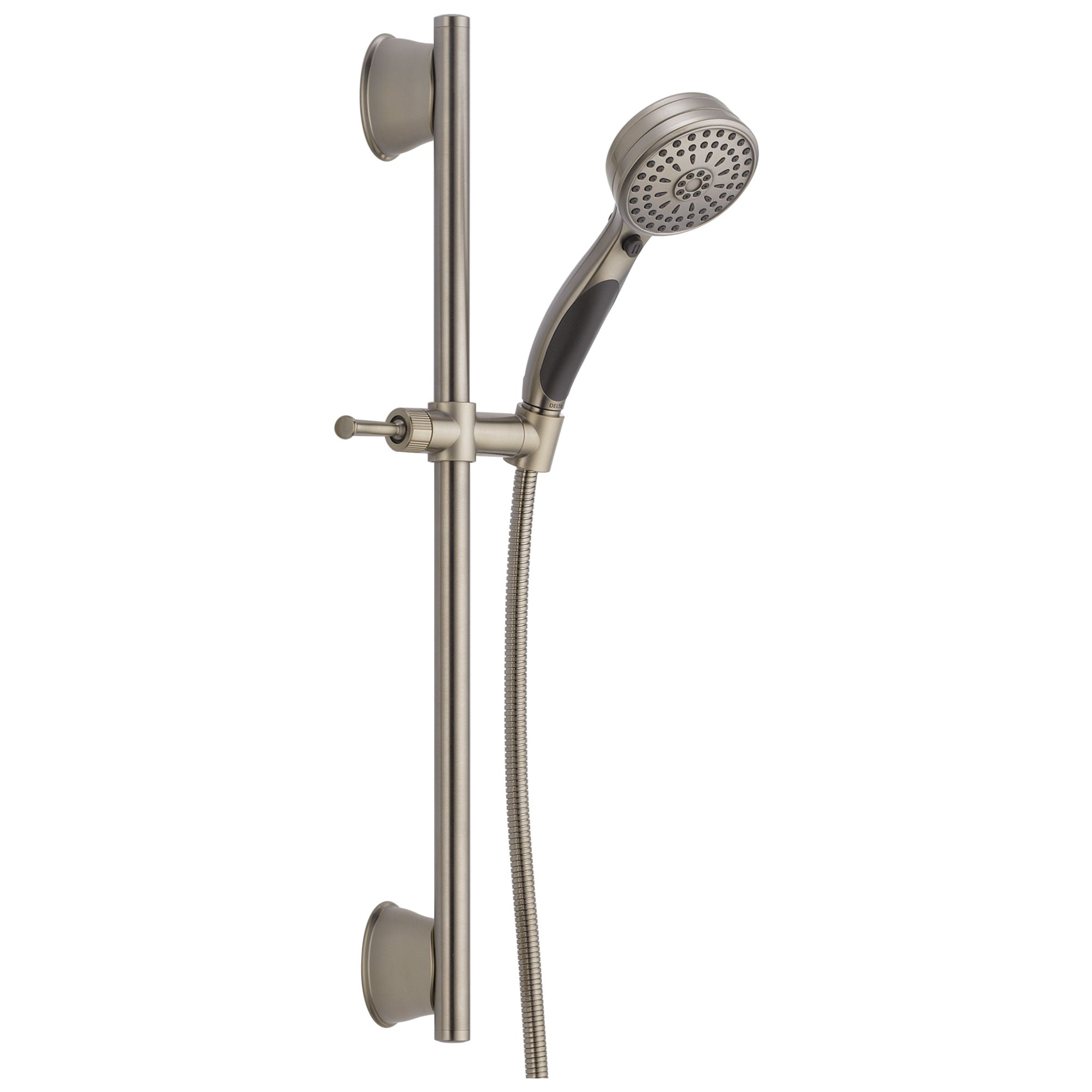 Delta Universal Showering Components Collection Stainless Steel Finish ActivTouch Hand Held Shower with Slidebar and Hose D51549SS