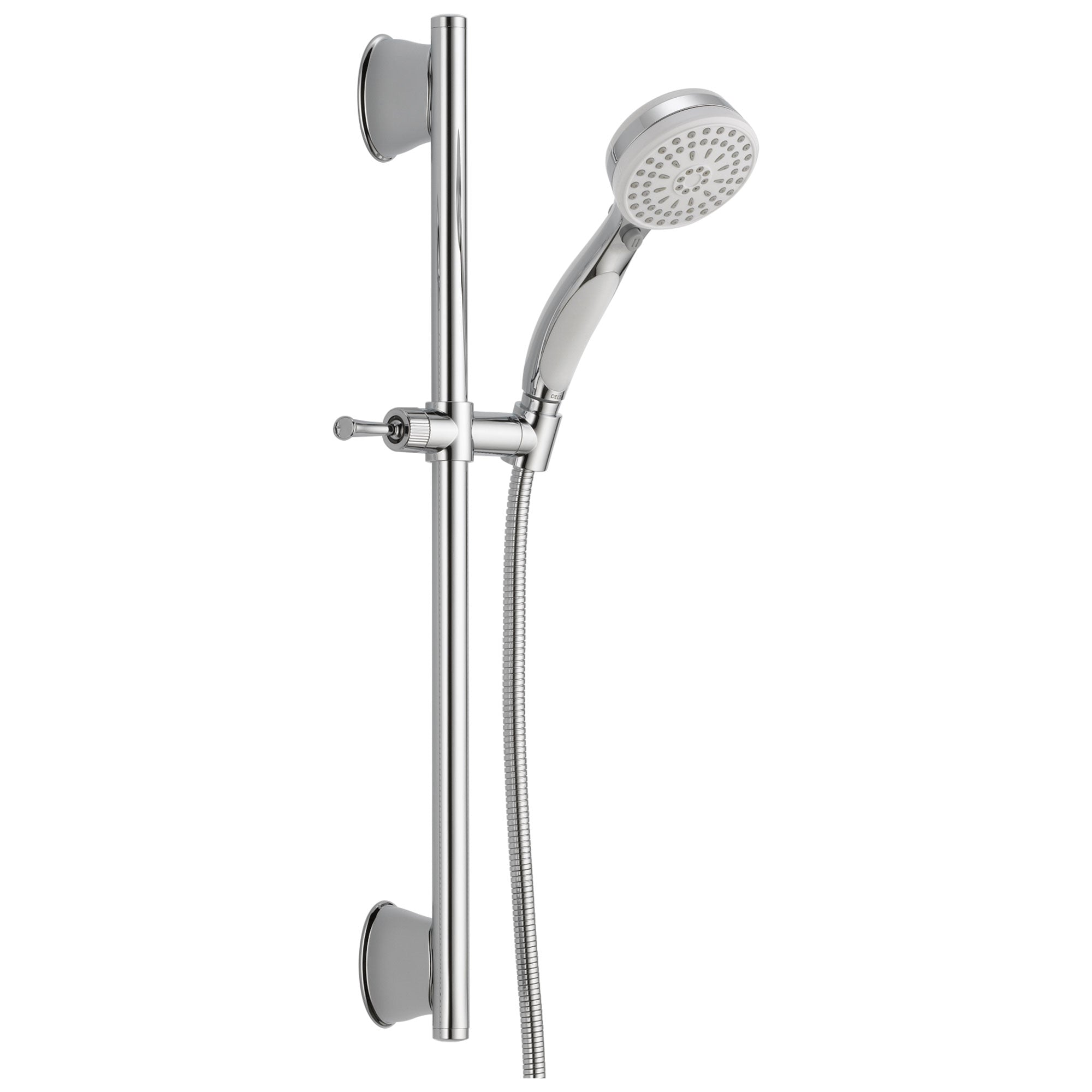Delta Universal Showering Components Collection Chrome / White Finish ActivTouch Hand Held Shower with Slidebar and Hose D51549WC