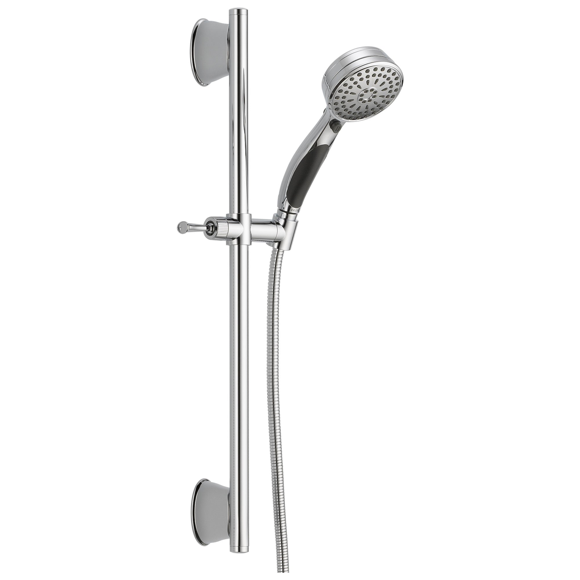 Delta Universal Showering Components Collection Chrome Finish ActivTouch Multi-setting Hand Shower with Slide Bar and Hose D51549