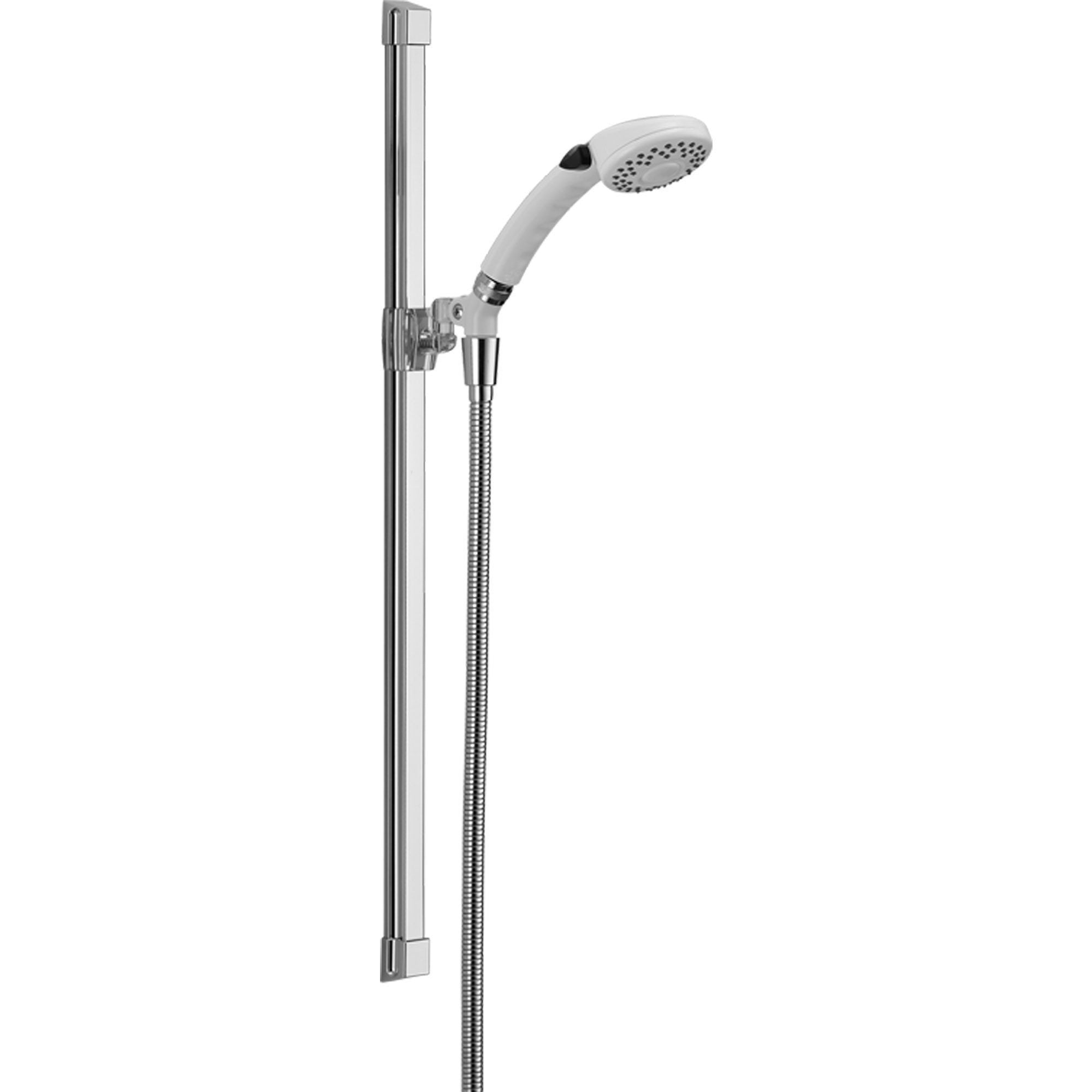Delta 2-Setting White / Chrome Glide Rail Personal Handheld Shower Faucet 561100