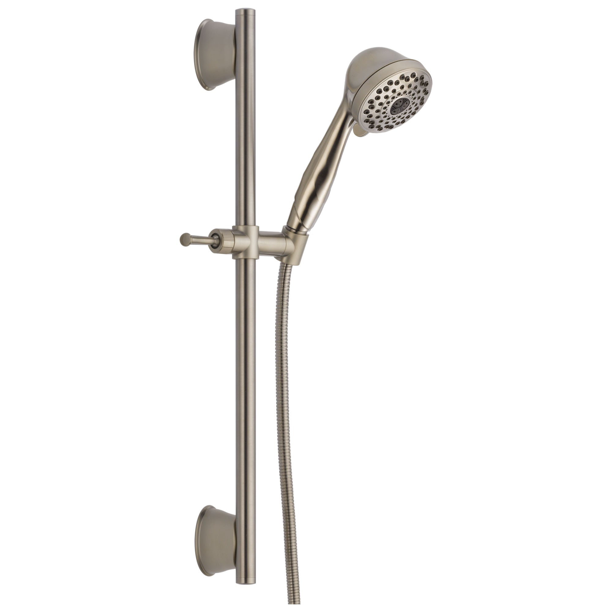 Delta Universal Showering Components Collection Stainless Steel Finish Watersense Wall Mount Hand Shower Spray with Slidebar and Hose D51589SS