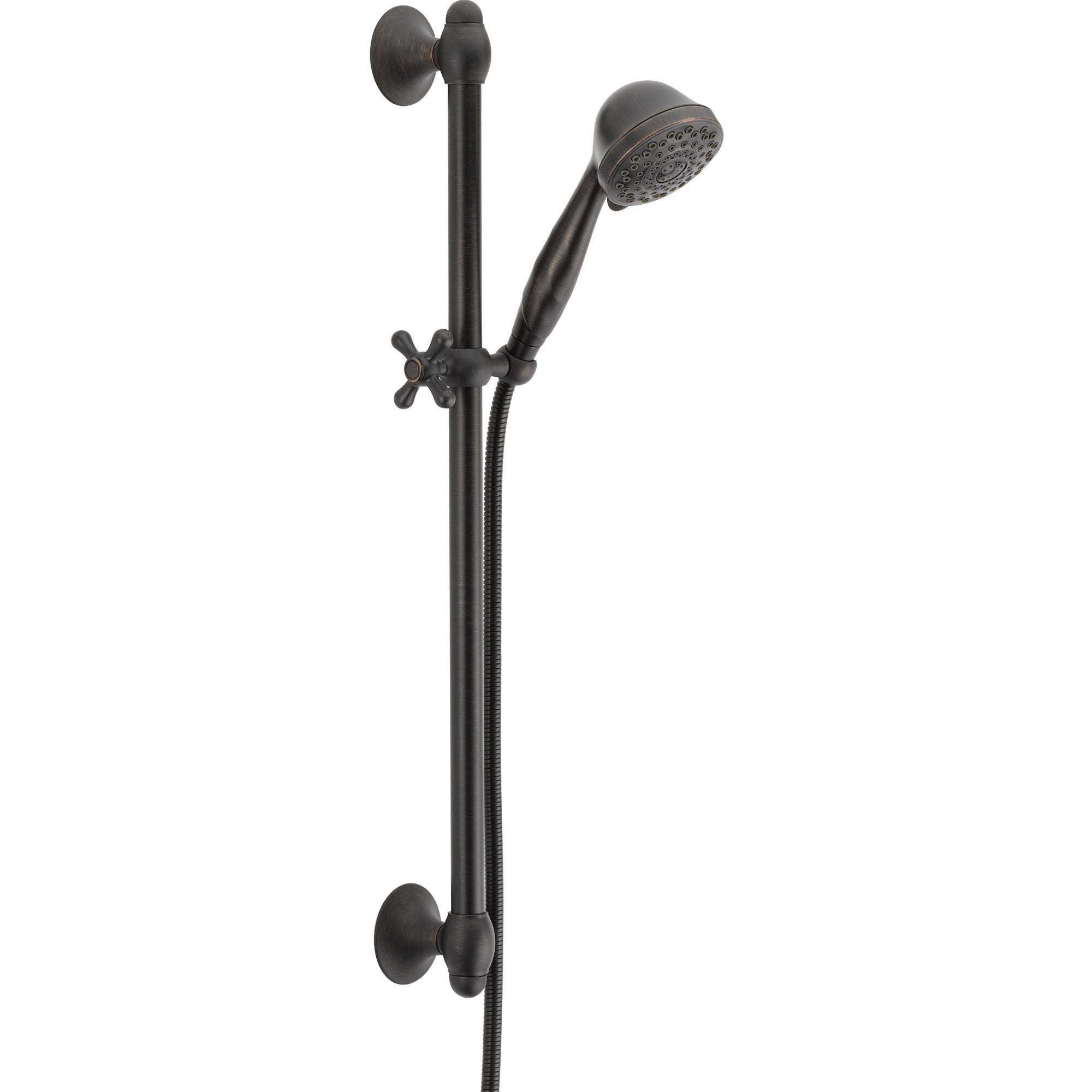 Delta 7-Setting Venetian Bronze Hand Held Shower Faucet with Slide Bar 567263