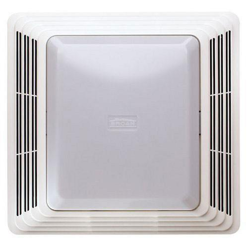 Broan 678 White 50 CFM Quiet Bath Ceiling Ventilation Fan and Light Combination