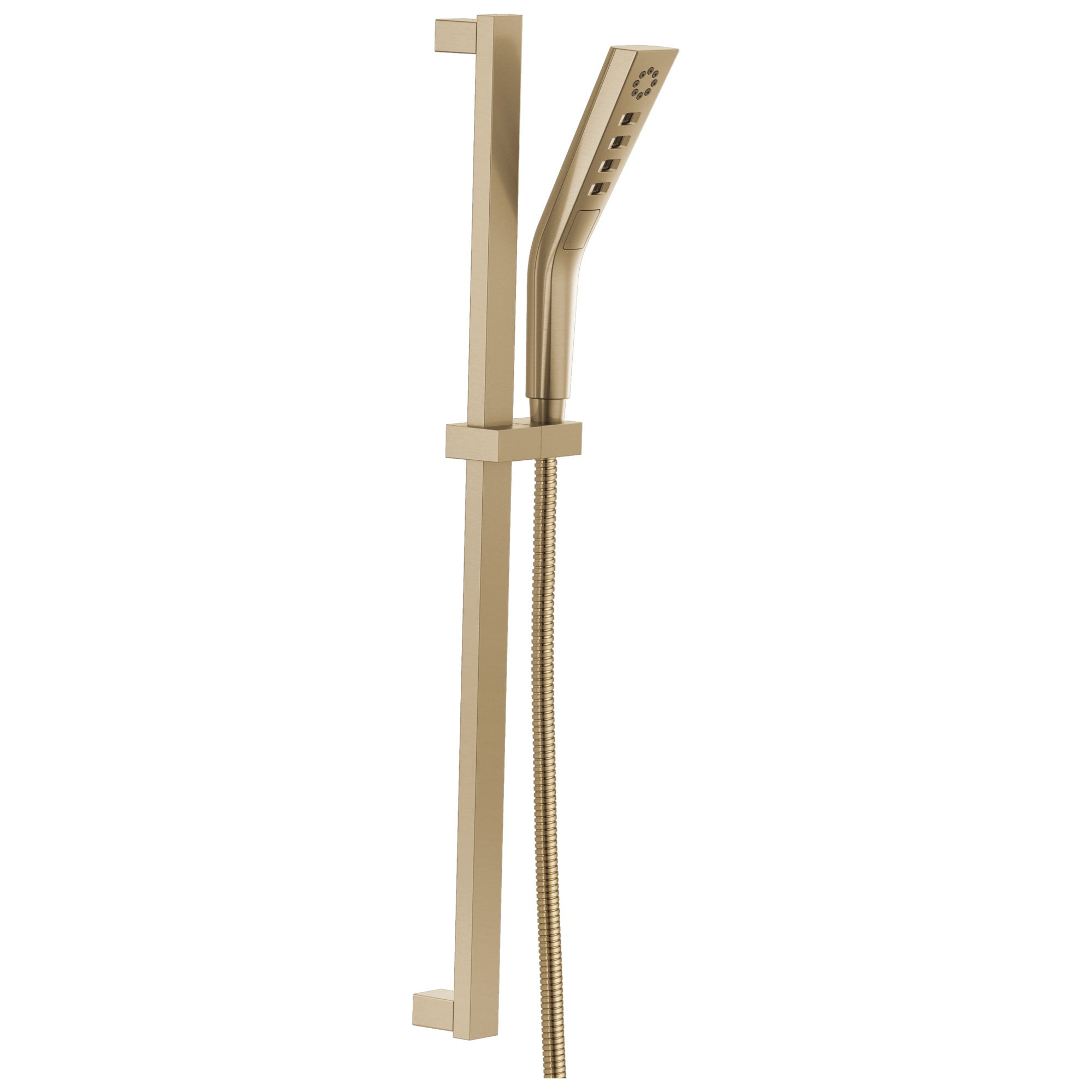 Delta Champagne Bronze Finish H2Okinetic Modern 3-Setting Slide Bar Hand Shower with Hose D51799CZ
