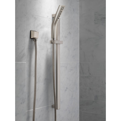 Delta Stainless Steel Finish H2Okinetic Modern 3-Setting Slide Bar Hand Shower with Hose D51799SS