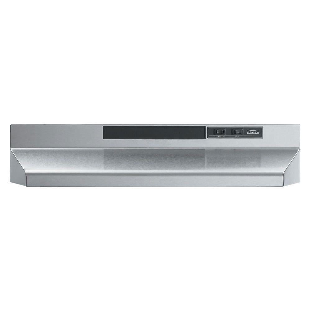 Broan-Nutone F40000 Series 30 inch Convertible Range Hood in Stainless Steel 518412