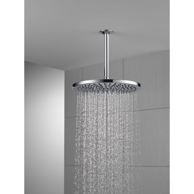 "Delta Chrome Finish 11-3/4"" Large Round 2.5 GPM Single-Setting Modern Metal Raincan Shower Head D5215825"