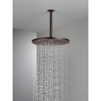 "Delta Venetian Bronze Finish 11-3/4"" Large Round 2.5 GPM Single-Setting Modern Metal Raincan Shower Head D52158RB25"