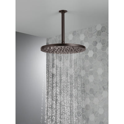 "Delta Venetian Bronze Finish 11-3/4"" Large Round 1.75 GPM Single-Setting Modern Metal Raincan Shower Head D52158RB"