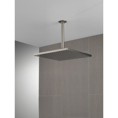 "Delta Stainless Steel Finish 11-3/4"" Large Square 2.5 GPM Single-Setting Modern Metal Raincan Shower Head D52159SS25"