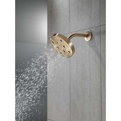 Delta Champagne Bronze Finish H2Okinetic Single-Setting Round Metal Raincan Shower Head D52175CZ