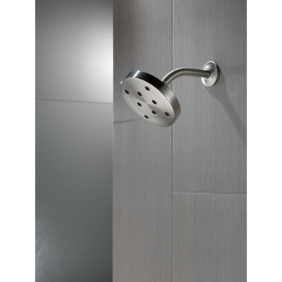 Delta Stainless Steel Finish H2Okinetic Single-Setting Round Metal Raincan Shower Head D52175SS