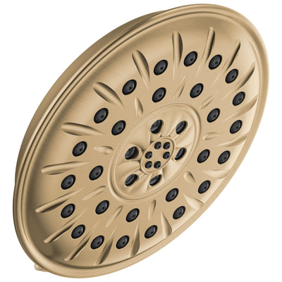 "Delta Champagne Bronze Finish 1.75 GPM UltraSoak 4-Setting 8.25"" Shower Head D52487CZ"