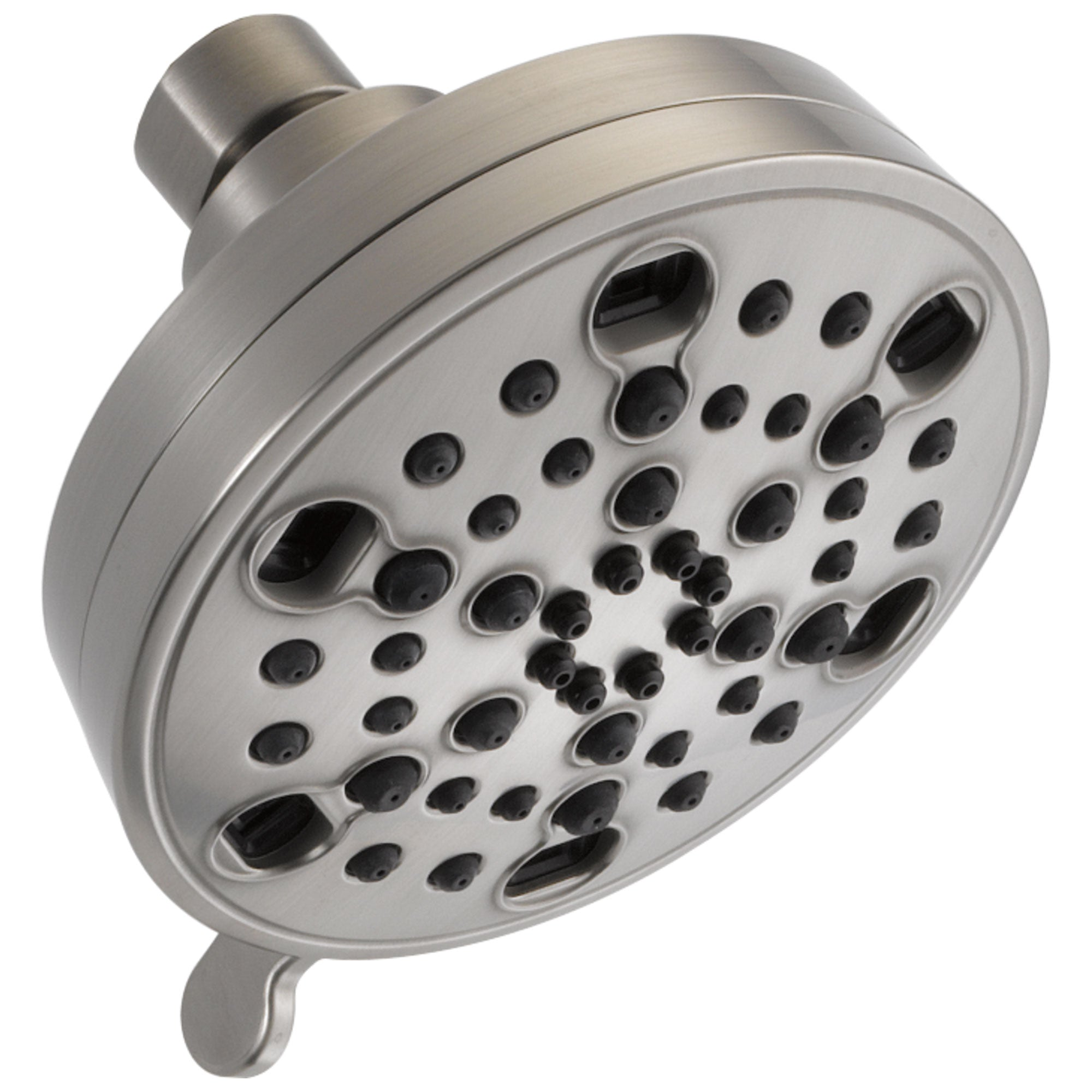 Delta Universal Showering Components Collection Stainless Steel Finish H2Okinetic 5-Setting Contemporary Shower Head D52638SS20PK