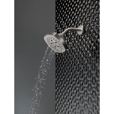 Delta Stainless Steel Finish 5-Setting H2Okinetic Shower Head D52663SS