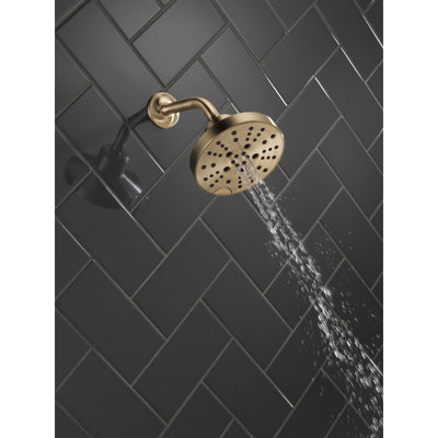 Delta Champagne Bronze Finish H2Okinetic 5-Setting Contemporary Raincan Shower Head D52668CZ
