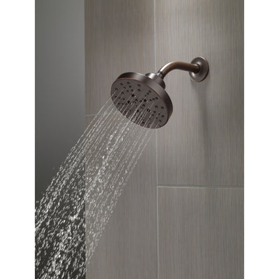 Delta Venetian Bronze Finish H2Okinetic 5-Setting Contemporary Raincan Shower Head D52668RB