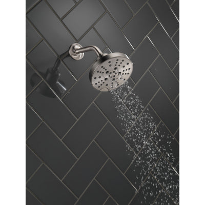 Delta Stainless Steel Finish H2Okinetic 5-Setting Contemporary Raincan Shower Head D52668SS