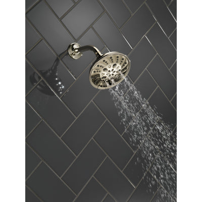 Delta Polished Nickel Finish H2Okinetic 5-Setting Traditional Raincan Shower Head D52669PN