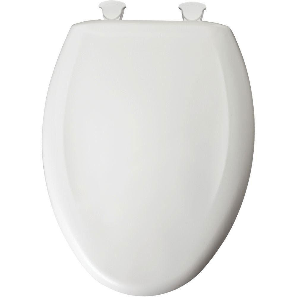 Bemis Slow Close STA-TITE White Easy Clean Elongated Closed Front Toilet Seat