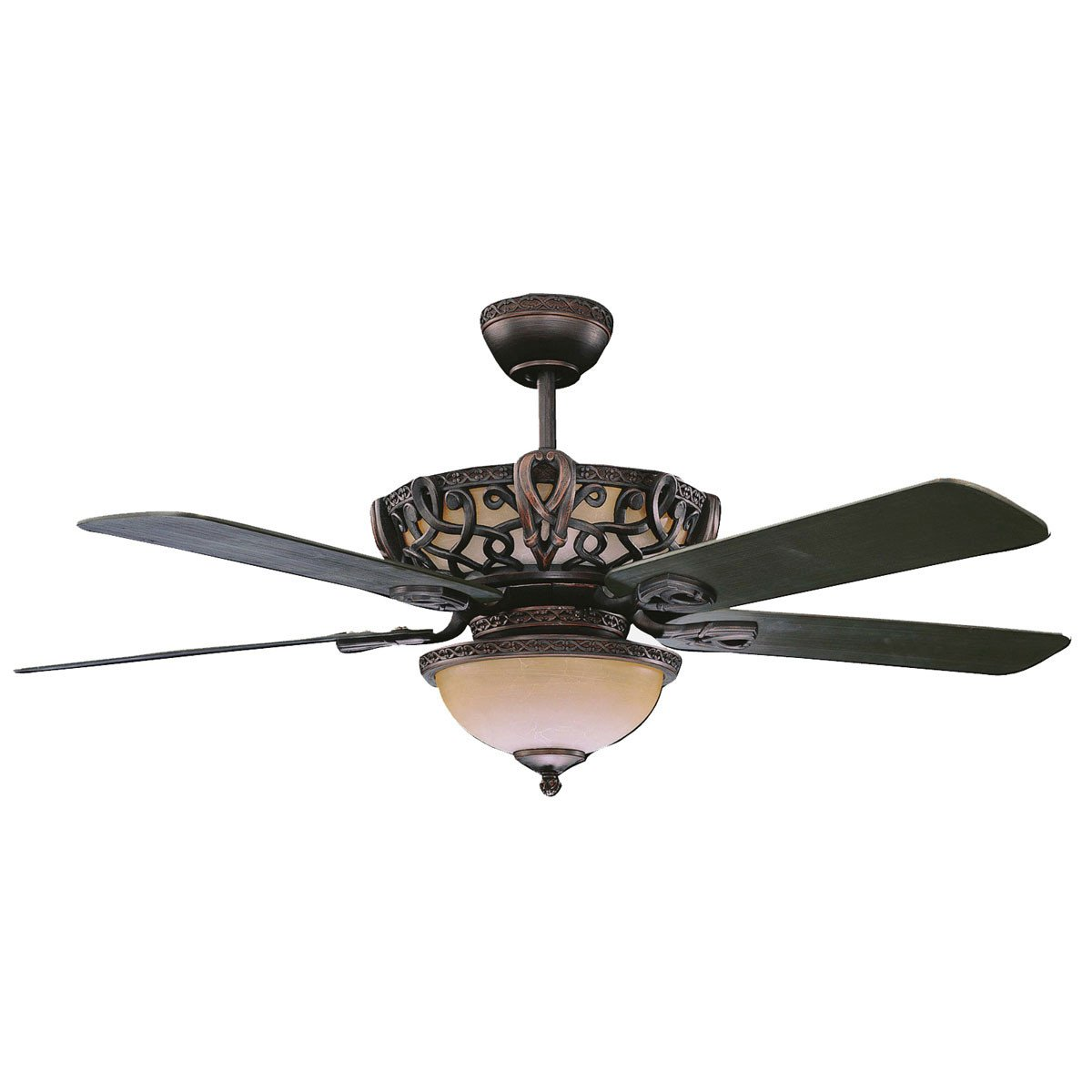 "Concord Fans 52"" Aracruz Oil Rubbed Bronze Ceiling Fan, Up & Downlights + Remote"