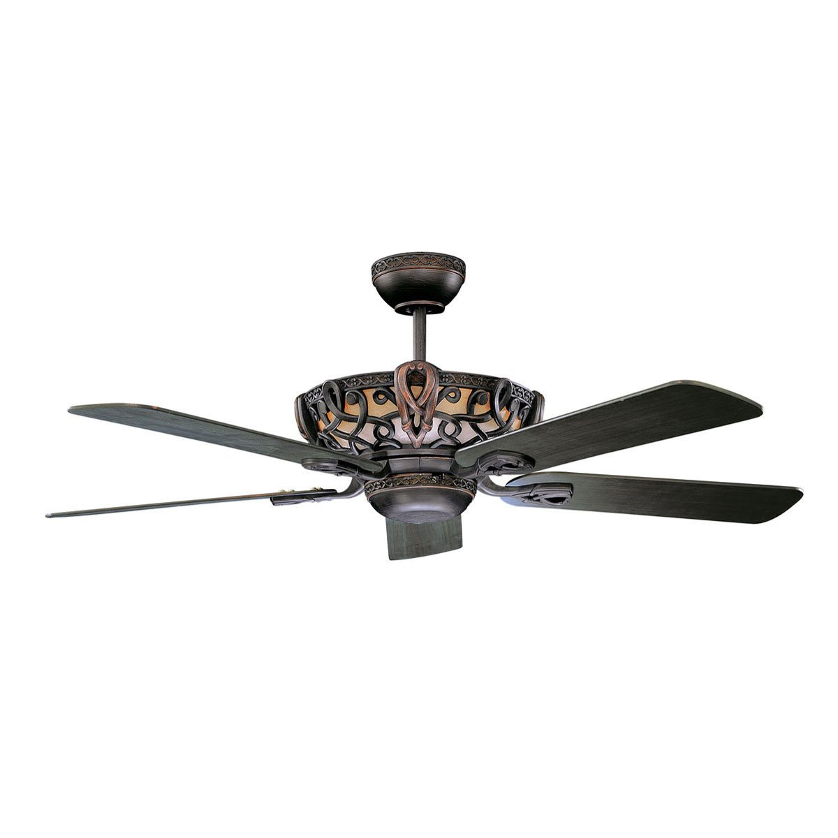 "Concord Fans 52"" Unique Aracruz Oil Rubbed Bronze Ceiling Fan with Up-Light Kit"