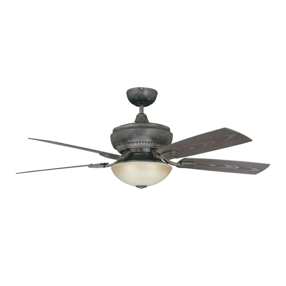 "Concord Fans 52"" Boardwalk Aged Pecan Outdoor Ceiling Fan with Light Kit"