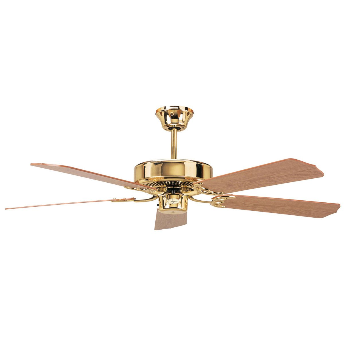 "Concord Fans 52"" California Home Energy Saver Polished Brass Ceiling Fan"