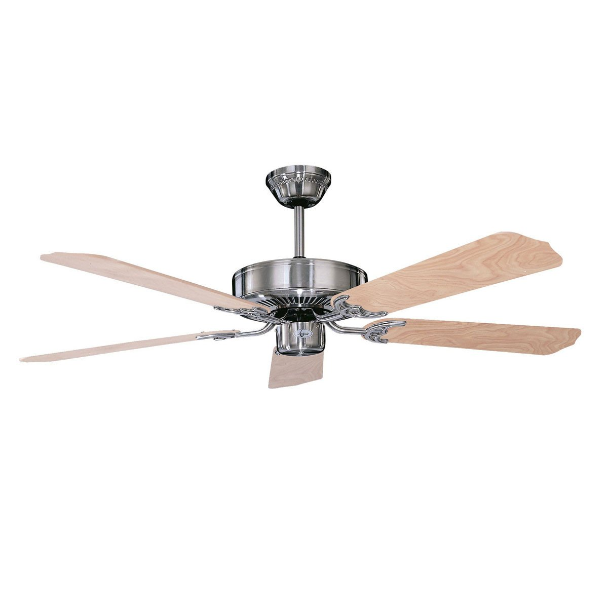 "Concord Fans 52"" California Home Energy Saver Style Stainless Steel Ceiling Fan"