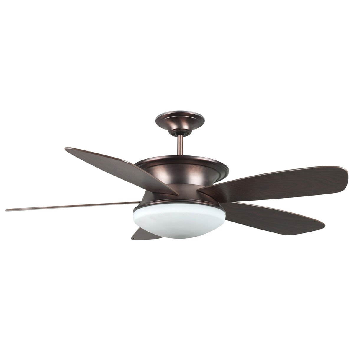 "Concord Fans 52"" Oil Brushed Brass Ceiling Fan w/ Up & Down Light + Wall Control"