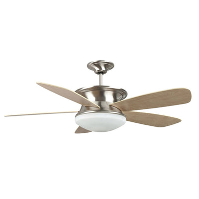 "Concord Fans 52"" Stainless Steel Ceiling Fan w/ Up & Down Light + Wall Control"