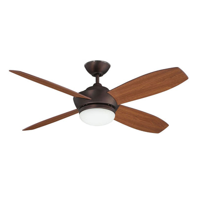 "Concord Fans 52"" Oil Brushed Bronze Ceiling Fan with Light and Remote Control"