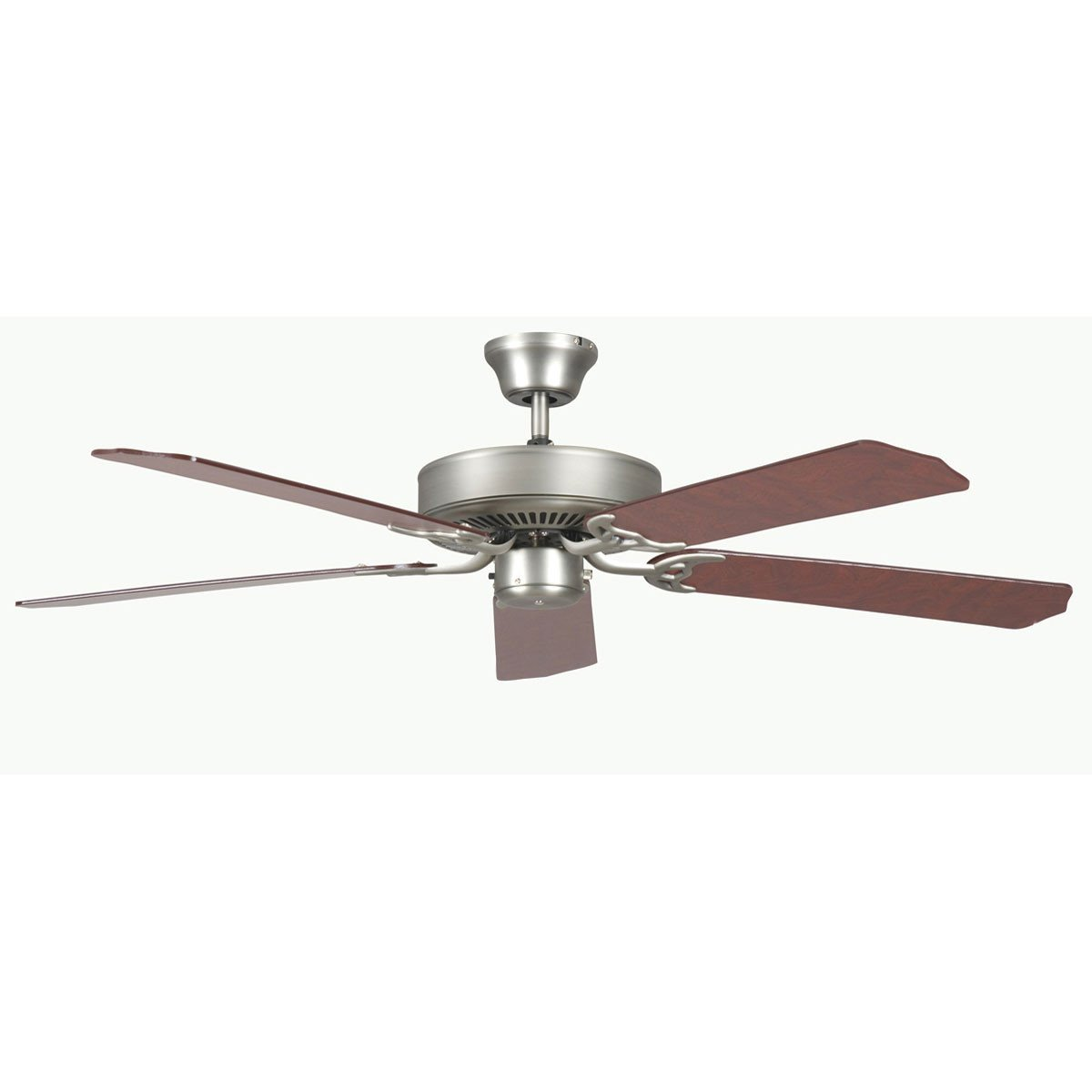 "Concord Fans 52"" Heritage Satin Nickel Simple Attractive Ceiling Fan"