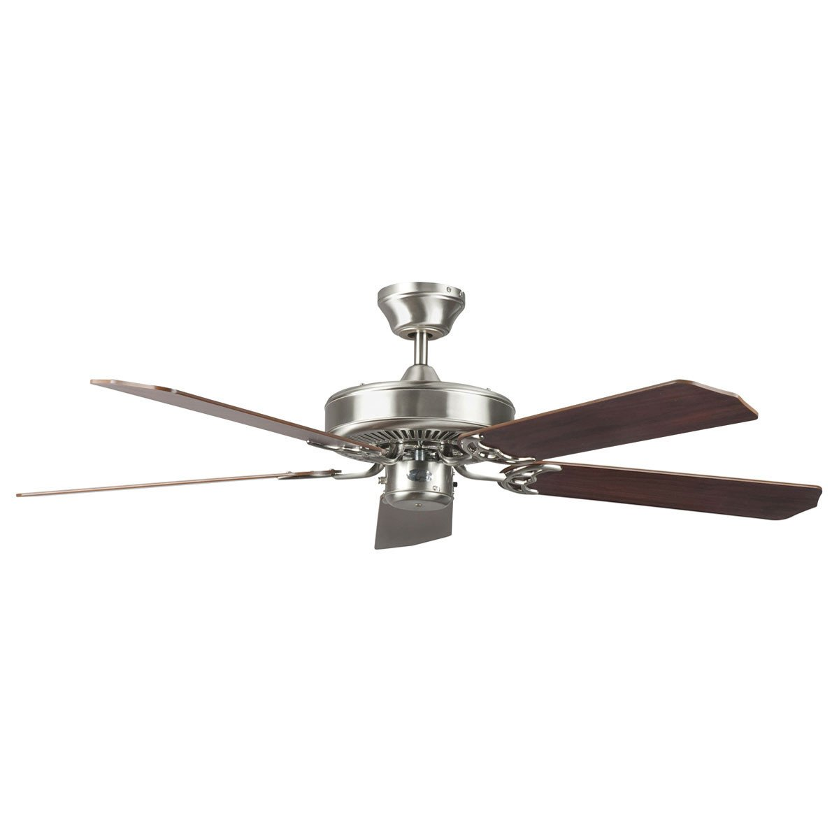 "Concord Fans 52"" Heritage Stainless Steel Finish Simple Attractive Ceiling Fan"