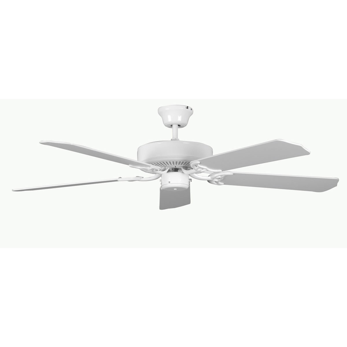 "Concord Fans 52"" Heritage White Simple Attractive Ceiling Fan"