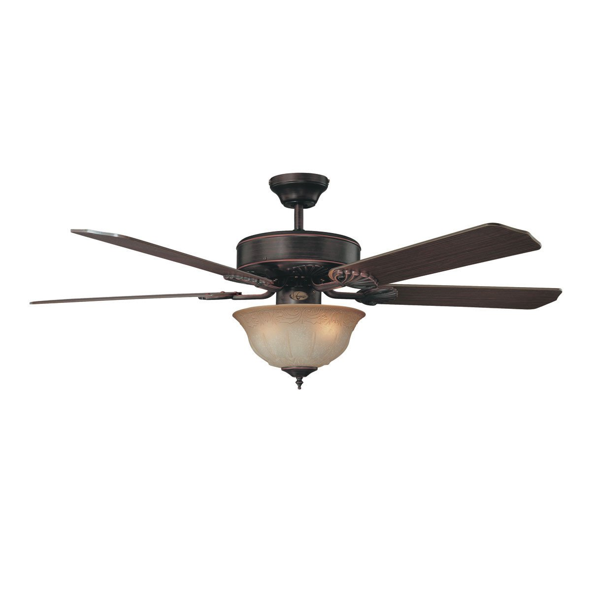 "Concord Fans 52"" Heritage Designer Oil Rubbed Bronze Ceiling Fan with Light Kit"