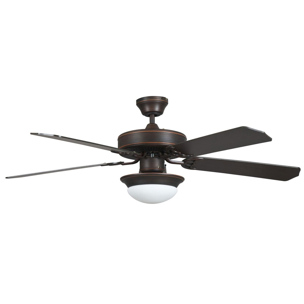 "Concord Fans 52"" Modern Energy Saver Oil Rubbed Bronze Ceiling Fan with Light"
