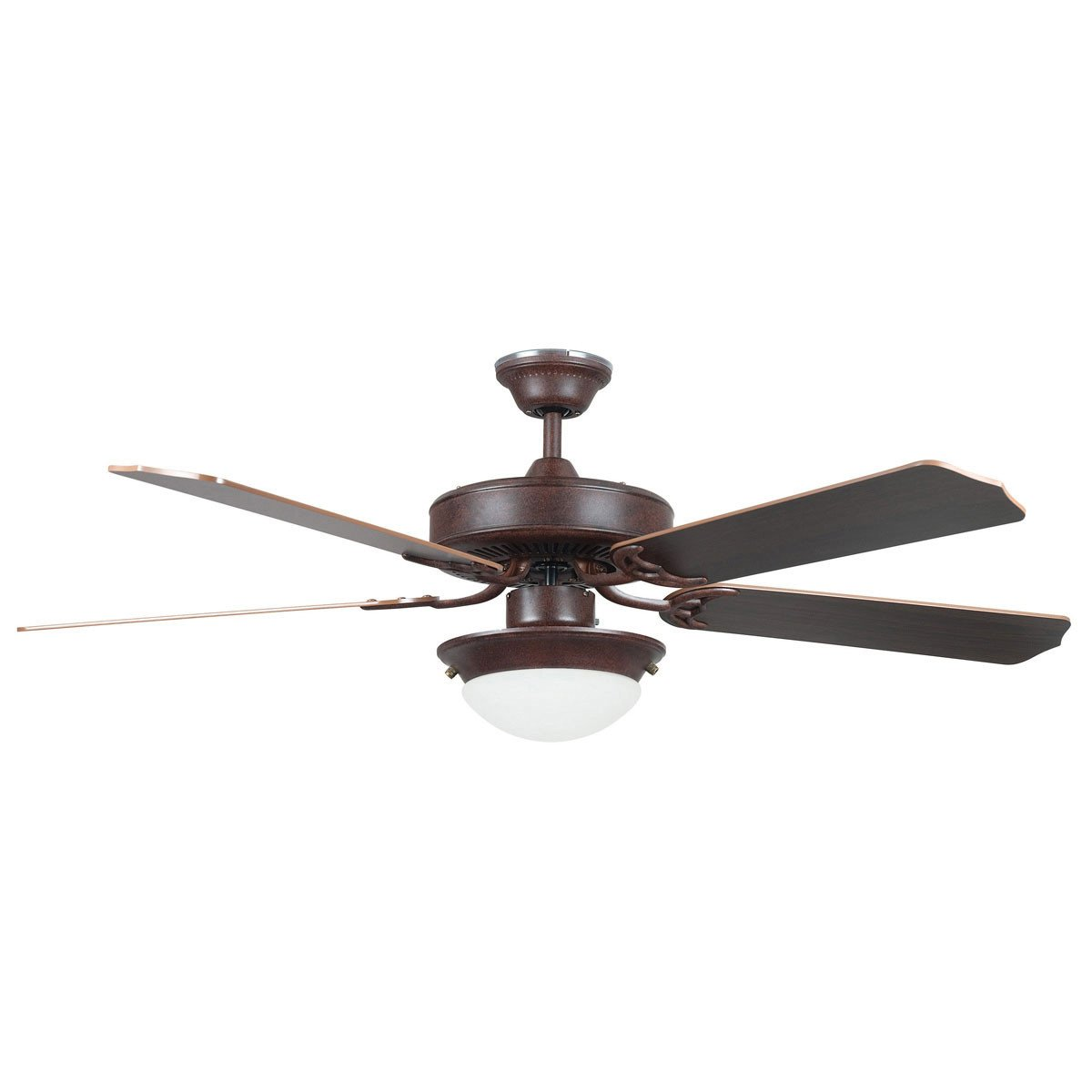 "Concord Fans 52"" Modern Energy Saver Rubbed Bronze Ceiling Fan with Light"