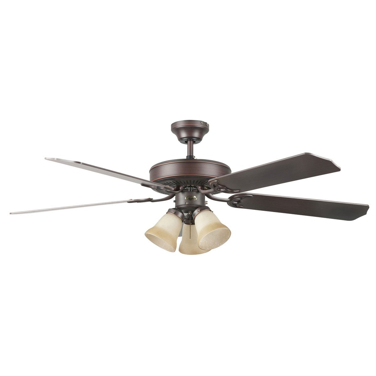 "Concord Fans 52"" Heritage Home Oil Rubbed Bronze Ceiling Fan with 3 Lights"