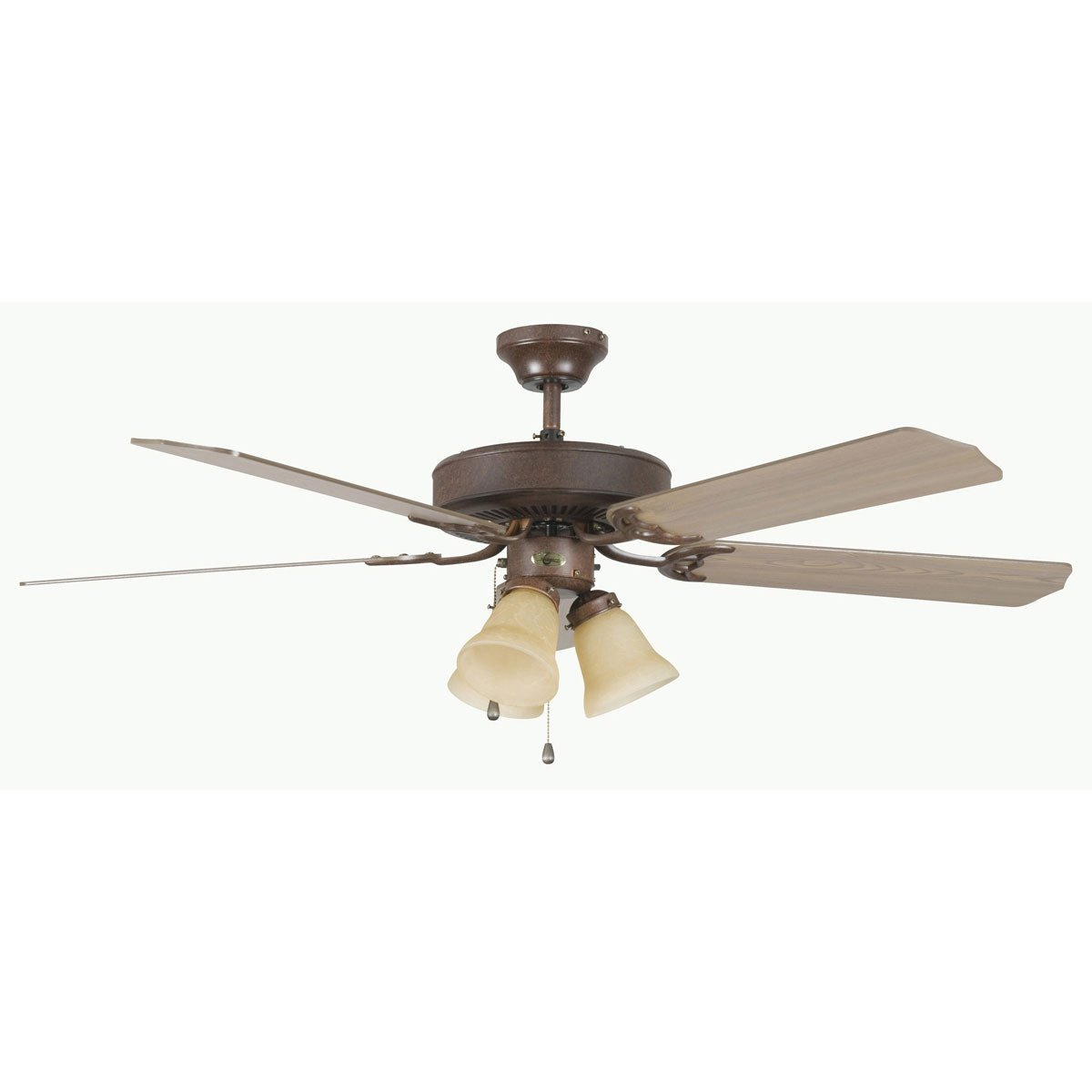 "Concord Fans 52"" Heritage Home Elegant Rubbed Bronze Ceiling Fan with 3 Lights"