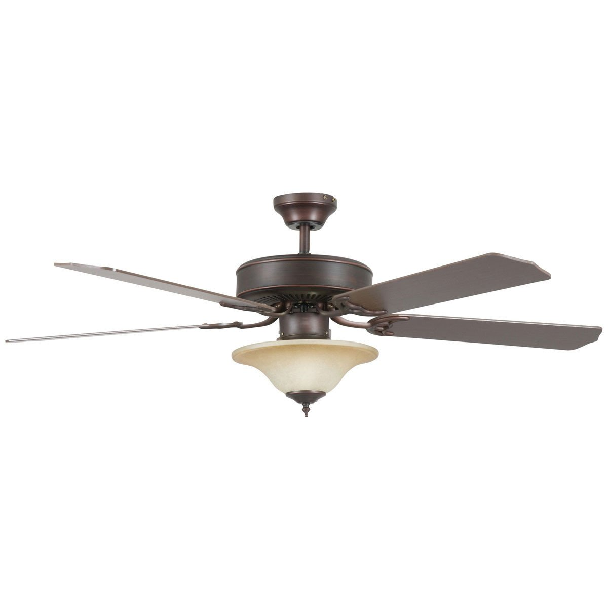 "Concord Fans 52"" Energy Saver Oil Rubbed Bronze Ceiling Fan with Light Kit"