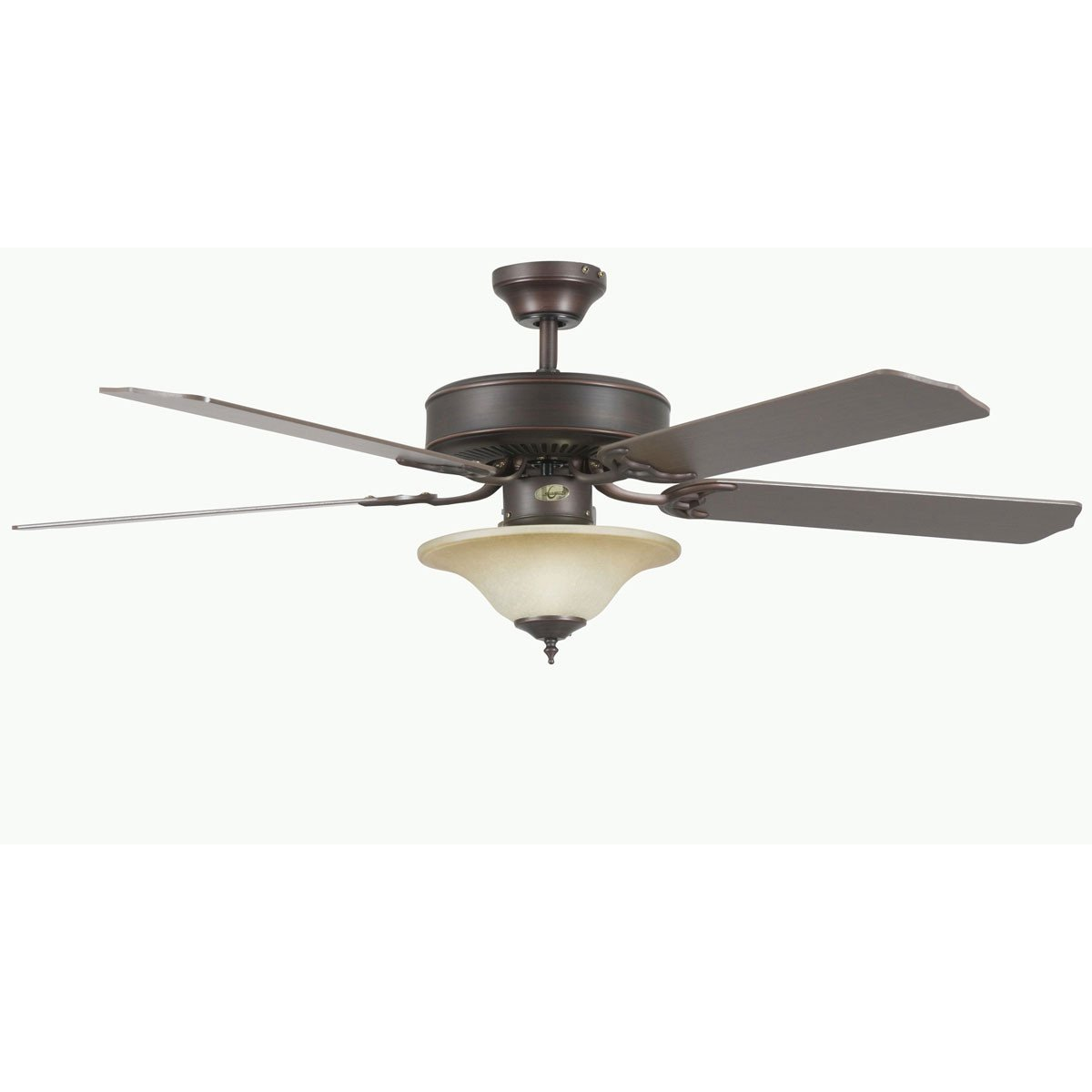 "Concord Fans 52"" Heritage Square Oil Rubbed Bronze Ceiling Fan with Light Kit"
