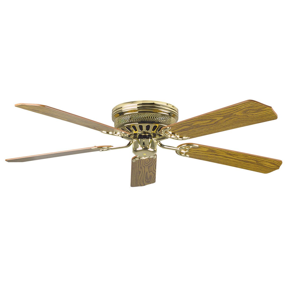 Concord Fans 52 Polished Brass Low Profile Hugger Ceiling Fan Faucetlist Com