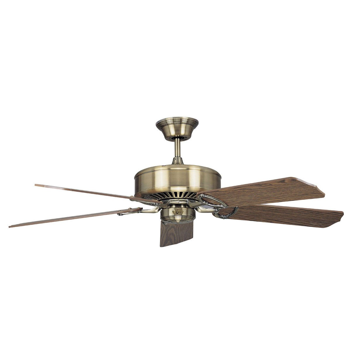 "Concord Fans 52"" Madison Energy Saver Antique Brass Modern Ceiling Fan"